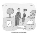 """He looks just the way he did in life."" - New Yorker Cartoon Premium Giclee Print by Peter C. Vey"