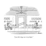 """I just did a huge one in my diaper."" - New Yorker Cartoon Premium Giclee Print by Jack Ziegler"