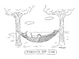 AMERICA OFF-LINE. - New Yorker Cartoon Premium Giclee Print by Robert Mankoff