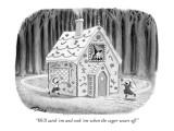 """We'll catch 'em and cook 'em when the sugar wears off."" - New Yorker Cartoon Premium Giclee Print by Harry Bliss"