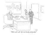 """Well, well, well!  If it isn't hanky and panky!"" - New Yorker Cartoon Premium Giclee Print by Robert Mankoff"