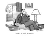 &quot;Not muchjust flushing out my arteries.&quot; - New Yorker Cartoon Premium Giclee Print by Leo Cullum