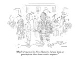 """Maybe it's part of the New Maturity, but you don't see grownups on those …"" - New Yorker Cartoon Premium Giclee Print by Robert Mankoff"