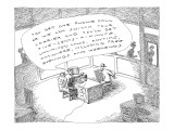 A police officer offers a perp a phone, saying, 'You get one phone call or… - New Yorker Cartoon Premium Giclee Print by John O'brien