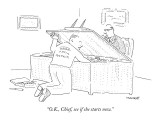 """O.K., Chief, see if she starts now."" - New Yorker Cartoon Premium Giclee Print by Robert Mankoff"