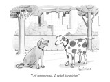 """I bit someone once.  It tasted like chicken."" - New Yorker Cartoon Premium Giclee Print by Leo Cullum"