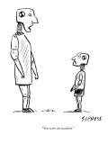"""""""You were an accident."""" - New Yorker Cartoon Premium Giclee Print by David Sipress"""