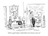 """I feel so good today I could almost turn down a tax cut."" - New Yorker Cartoon Premium Giclee Print by David Sipress"