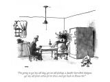 """I'm going to get my old dog, get an old pickup, a double-barrelled shotgu…"" - New Yorker Cartoon Premium Giclee Print by George Booth"
