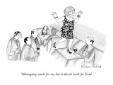 """Monogamy works for me, but it doesn't work for Enid. - New Yorker Cartoon Premium Giclee Print by Victoria Roberts"
