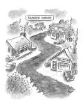 """Roadside Ambush"" - New Yorker Cartoon Premium Giclee Print by Frank Cotham"