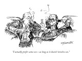 """I actually prefer same sex—as long as it doesn't involve sex."" - New Yorker Cartoon Premium Giclee Print by William Hamilton"