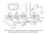 """""""Now, if all of you would do me the favor of arranging yourselves into a h…"""" - New Yorker Cartoon Premium Giclee Print by Robert Mankoff"""