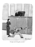 """A unique and stirring plea, counsellor."" - New Yorker Cartoon Premium Giclee Print by Danny Shanahan"