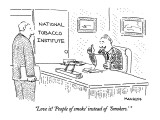 """Love it! 'People of smoke' instead of 'Smokers.' "" - New Yorker Cartoon Premium Giclee Print by Robert Mankoff"