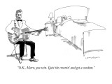 """""""O.K., Marv, you win. Quit the croonin' and get a condom."""" - New Yorker Cartoon Premium Giclee Print by Michael Crawford"""