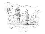 """Crazy busy—you?"" - New Yorker Cartoon Premium Giclee Print by Danny Shanahan"