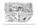 """True, most accidents occur in the home.  Rarely, however, do they involve…"" - New Yorker Cartoon Premium Giclee Print by Arnie Levin"