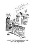 """Arthritis Pain Formula Anacin, Poli-grip, and a home-pregnancy test."" - New Yorker Cartoon Premium Giclee Print by Edward Frascino"