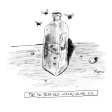 """The 40-Year-Old Virgin Olive Oil"" - New Yorker Cartoon Premium Giclee Print by Zachary Kanin"