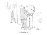 """""""Get off me, lard-ass!"""" - New Yorker Cartoon Premium Giclee Print by Robert Mankoff"""