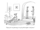 """""""I hope you're not planning to run for political office in the future."""" - New Yorker Cartoon Premium Giclee Print by Mick Stevens"""