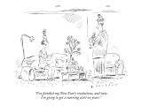 """I've finished my New Year's resolutions, and now I'm going to get a runni…"" - New Yorker Cartoon Premium Giclee Print by Barbara Smaller"