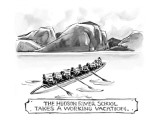 """The Hudson River School Takes a Working Vacation"" - New Yorker Cartoon Premium Giclee Print by Lee Lorenz"