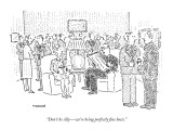 """Don't be silly — we're being perfectly fine hosts."" - New Yorker Cartoon Premium Giclee Print by Robert Mankoff"