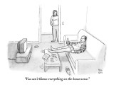"""You can't blame everything on the bossa nova."" - New Yorker Cartoon Premium Giclee Print by Paul Noth"