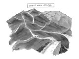 """Great Wall Sprawl"" - New Yorker Cartoon Premium Giclee Print by Marshall Hopkins"