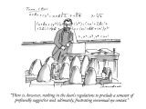 """""""There is, however, nothing in the dean's regulations to preclude a semest…"""" - New Yorker Cartoon Premium Giclee Print by Michael Crawford"""