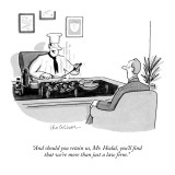 """And should you retain us, Mr. Hodal, you'll find that we're more than jus…"" - New Yorker Cartoon Premium Giclee Print by Leo Cullum"