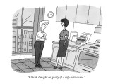 """I think I might be guilty of a self-hate crime."" - New Yorker Cartoon Premium Giclee Print by Peter C. Vey"