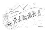 Evolution of life: from a scribble to a fully-clothed man. - New Yorker Cartoon Premium Giclee Print by David Sipress