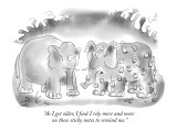 """""""As I get older, I find I rely more and more on these sticky notes to remi…"""" - New Yorker Cartoon Premium Giclee Print by Arnie Levin"""