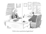 """I'd like to have myself declared legally blonde."" - New Yorker Cartoon Premium Giclee Print by Leo Cullum"