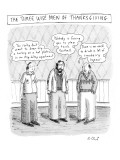 The Three Wise Men of Thanksgiving - New Yorker Cartoon Premium Giclee Print by Roz Chast
