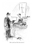 &quot;This is who I am. This is how I earn it.&quot; - New Yorker Cartoon Premium Giclee Print by Robert Weber