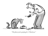 """The phrase you're groping for is 'Thank you.'"" - New Yorker Cartoon Premium Giclee Print by Lee Lorenz"