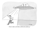"""""""I love it when we hit them with the disco death ray."""" - New Yorker Cartoon Premium Giclee Print by Peter C. Vey"""