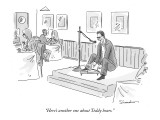 """""""Here's another one about Teddy bears."""" - New Yorker Cartoon Premium Giclee Print by Danny Shanahan"""