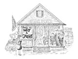 Sign on 'Floyd's Store' reads, 'This Is Not A Gallery.' - New Yorker Cartoon Premium Giclee Print by Edward Koren