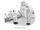 """I'm just here for the dental."" - New Yorker Cartoon Premium Giclee Print by Emily Flake"
