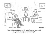 """Dear, what would you say to the idea of bringing more ethnic and gender d…"" - New Yorker Cartoon Premium Giclee Print by Robert Mankoff"