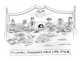 Michael Jackson in bed with numerous lawyers. - New Yorker Cartoon Premium Giclee Print by Mick Stevens