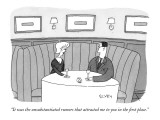 """It was the unsubstantiated rumors that attracted me to you in the first p…"" - New Yorker Cartoon Premium Giclee Print by Peter C. Vey"
