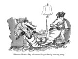 """Whenever Mother's Day rolls around, I regret having eaten my young."" - New Yorker Cartoon Premium Giclee Print by Edward Frascino"