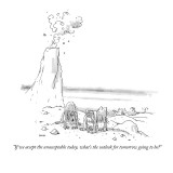"""""""If we accept the unacceptable today, what's the outlook for tomorrow goin…"""" - New Yorker Cartoon Premium Giclee Print by George Booth"""