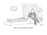 """Wow!  You need professional help."" - New Yorker Cartoon Premium Giclee Print by Robert Mankoff"